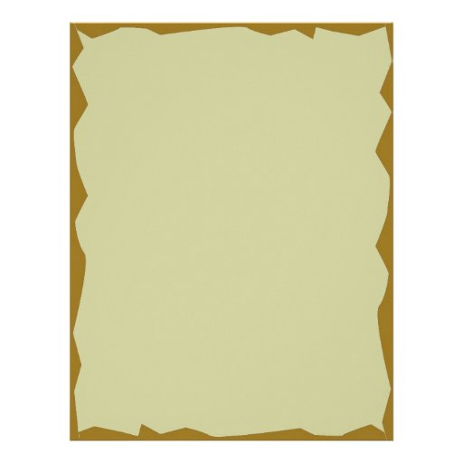 Letterhead With Jagged Olive Borders Zazzle