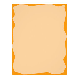 Letterhead with jagged Tangerine Edge Design