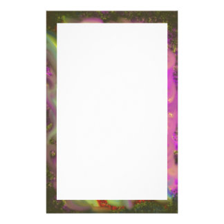 Letterhead with Modern Abstract Border Personalized Stationery