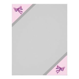 Letterhead with Pink Bows