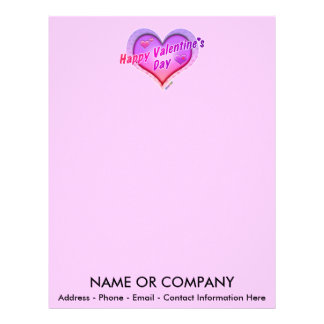 LETTERHEADS - Happy Valentine's Day Letterhead