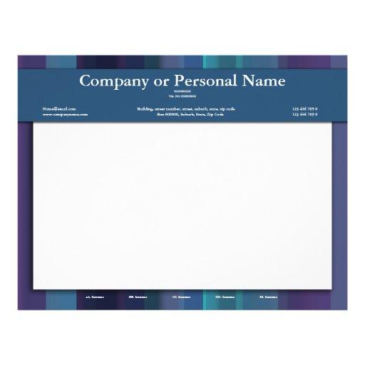 Letterheads template - customizable blue purple letterhead