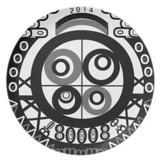 Letterical Decorative Plate