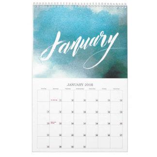 Lettering Calendar 2018