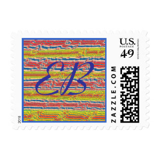 Lettering--Customize Yours,  Crochet Stripes Postage Stamp