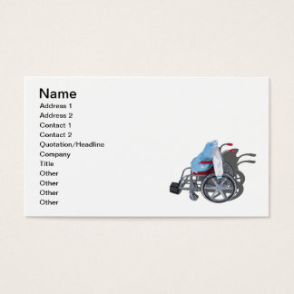 Letterman Jacket Wheelchair Business Card