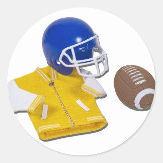 LettermanJacketFootballHelmetBall111811 Classic Round Sticker