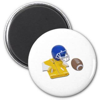 LettermanJacketFootballHelmetBall111811 Imán Redondo 5 Cm