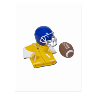 LettermanJacketFootballHelmetBall111811 Postcard