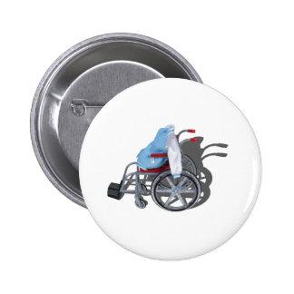 LetterManJacketWheelchair090912.png Pinback Button