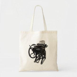 letterpress 1888 budget tote bag