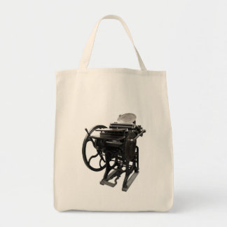 letterpress 1888 grocery bag
