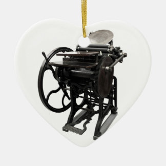 letterpress 1888 heart ornament