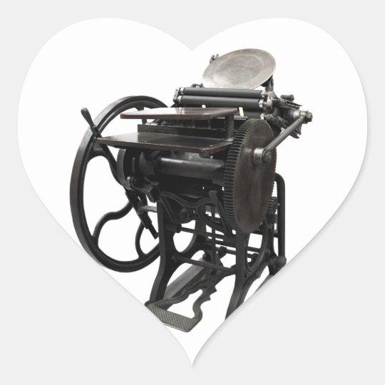 letterpress 1888 heart sticker
