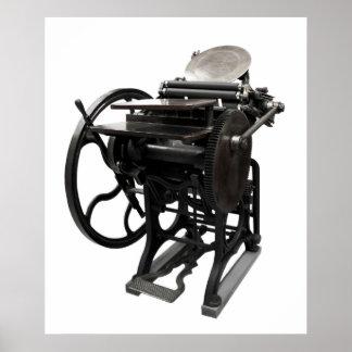 letterpress 1888 huge poster
