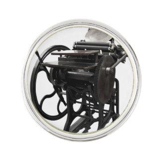 Letterpress 1888 pin