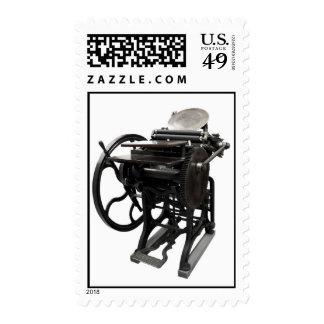 letterpress 1888 postage