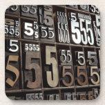 Letterpress 2 coaster