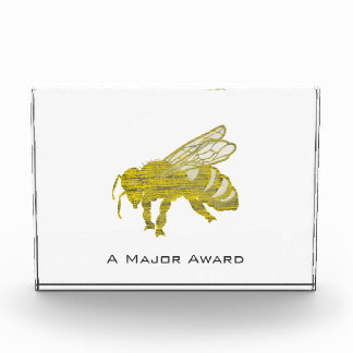 Letterpress Bee Acrylic Award