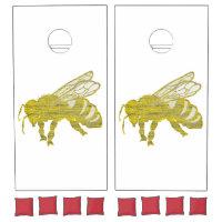 Letterpress Bee Cornhole Set