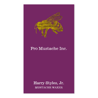 Letterpress Bee Double-Sided Standard Business Cards (Pack Of 100)