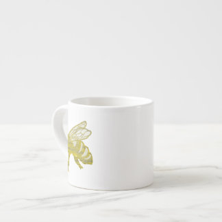 Letterpress Bee Espresso Cup