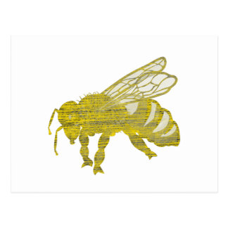 Letterpress Bee Postcard