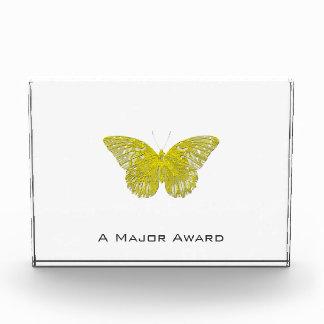 Letterpress Butterfly Acrylic Award