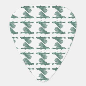 Letterpress Flying Gurnard Guitar Pick by TerryBain at Zazzle