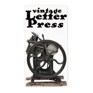 Letterpress from 1901 wine label