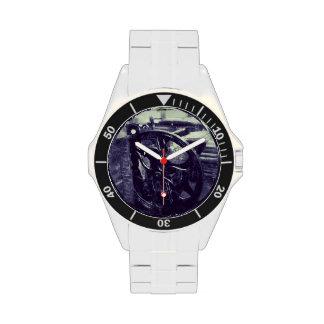 letterpress grunge stainless steel watch