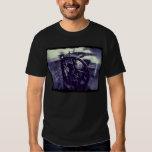 letterpress grunge with border dark t-shirt