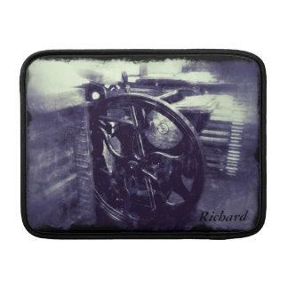 letterpress grunge with border MacBook Air sleeve