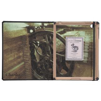 letterpress in studio grunge iPad Dodo case iPad Folio Cases