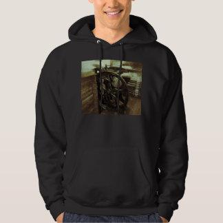 letterpress in studio grunge men's hoodie