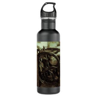 letterpress in studio grunge water bottle