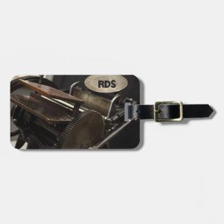 Letterpress machine bag tag
