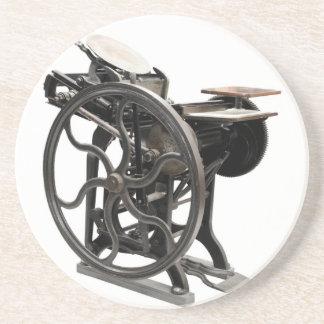 letterpress machine coaster