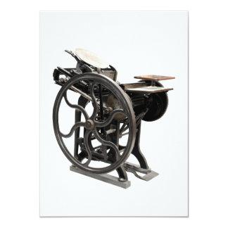 """letterpress machine invitation 4.5"""" x 6.25"""" invitation card"""