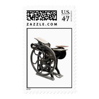 letterpress machine postage stamp