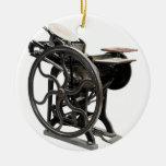 letterpress machine round ornament