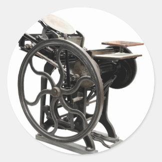 letterpress machine round stickers