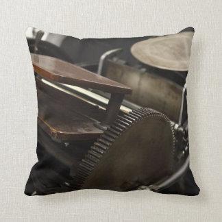 Letterpress machine throw pillow