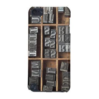 letterpress metal type ipod case