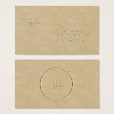 Letterpress Personal Business Card at Zazzle