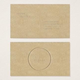 Letterpress Personal Business Card