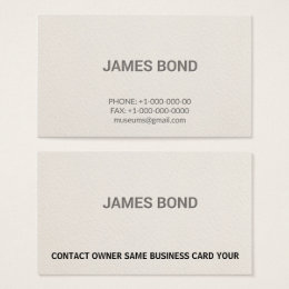 Owner business cards templates zazzle letterpress personsal professional business card colourmoves