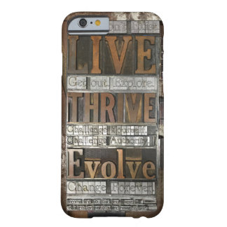 Letterpress phone case Brian Krans Quote Barely There iPhone 6 Case