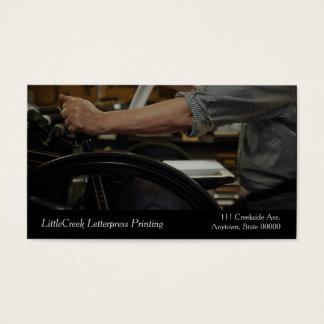 Letterpress printer business card