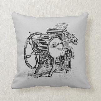 Letterpress printing press Chandler & Price pillow